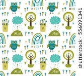 seamless vector pattern with... | Shutterstock .eps vector #556091341
