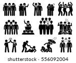 businessman being a leader.... | Shutterstock . vector #556092004