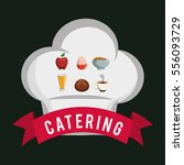 catering food service chef hat...   Shutterstock .eps vector #556093729
