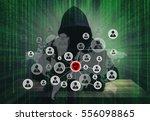 programmer hacker working on... | Shutterstock . vector #556098865
