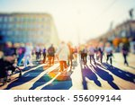 crowd of anonymous people... | Shutterstock . vector #556099144