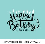 happy birthday greeting card... | Shutterstock .eps vector #556099177