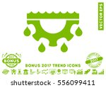 eco green water gear drops icon ... | Shutterstock .eps vector #556099411