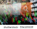double exposure of abstract... | Shutterstock . vector #556105339
