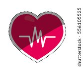 heartbeat medical healthcare... | Shutterstock .eps vector #556105525