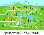 park map infographic elements... | Shutterstock .eps vector #556105834