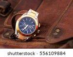 expensive man wrist watch... | Shutterstock . vector #556109884