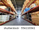 large hangar warehouse... | Shutterstock . vector #556110361