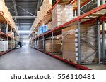 large hangar warehouse... | Shutterstock . vector #556110481