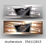grand opening elegant cards... | Shutterstock .eps vector #556112815