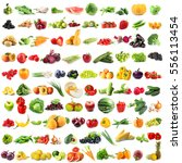 assortment of fresh vegetables... | Shutterstock . vector #556113454