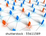 social network concept | Shutterstock . vector #55611589