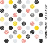 ornate dotted pattern. vector... | Shutterstock .eps vector #556115959