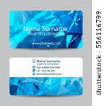vector triangle business card... | Shutterstock .eps vector #556116799