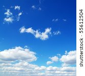 blue sky background with tiny... | Shutterstock . vector #55612504