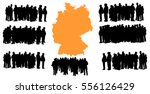 vector silhouette of a group of ... | Shutterstock .eps vector #556126429