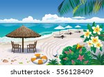 vector illustration of sunny... | Shutterstock .eps vector #556128409