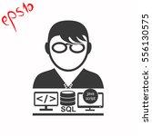 programmer vector icon. set.... | Shutterstock .eps vector #556130575