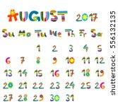 cute august 2017 calendar for...   Shutterstock .eps vector #556132135