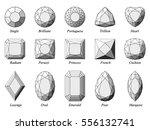set of fifteen various diamond... | Shutterstock . vector #556132741