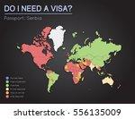 visas information for republic...   Shutterstock .eps vector #556135009
