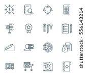 set of 16 project management...   Shutterstock .eps vector #556143214