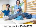 rehab clinic gym. multi racial...   Shutterstock . vector #556144777