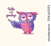 trendy owls draw with the... | Shutterstock .eps vector #556162051