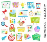collection of bright cartoon...   Shutterstock .eps vector #556165129