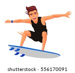 cool surfer on the board.... | Shutterstock .eps vector #556170091