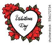 valentine heart decorative... | Shutterstock .eps vector #556172734