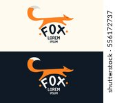 vector modern fox logo and... | Shutterstock .eps vector #556172737