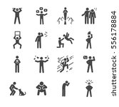 character and personality icons ... | Shutterstock .eps vector #556178884