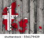 textured map of denmark in nice ... | Shutterstock . vector #556179439