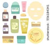 facial .skincare vector... | Shutterstock .eps vector #556184341