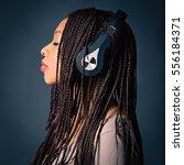 african young woman studio... | Shutterstock . vector #556184371