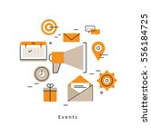 promotion  planning events ... | Shutterstock .eps vector #556184725