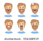 set of male emoji characters.... | Shutterstock .eps vector #556188919
