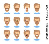 set of male emoji characters.... | Shutterstock .eps vector #556188925