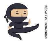 ninja character. serious ninja... | Shutterstock . vector #556192051