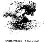 ink guy football player in a... | Shutterstock .eps vector #55619260