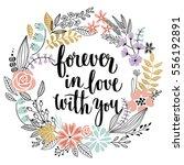 valentine s day callygraphic... | Shutterstock .eps vector #556192891