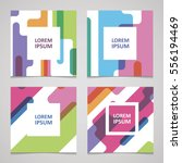 set of trendy cards with color... | Shutterstock .eps vector #556194469