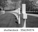 Rows Of Well Kept Graves Of...