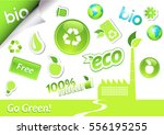 set of ecology icons.  | Shutterstock .eps vector #556195255