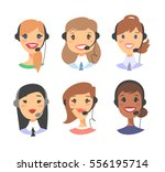 portrait of happy smiling... | Shutterstock .eps vector #556195714