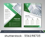 green annual report brochure... | Shutterstock .eps vector #556198735