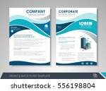 blue annual report brochure... | Shutterstock .eps vector #556198804