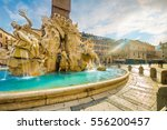 ancient square in rome  italy... | Shutterstock . vector #556200457