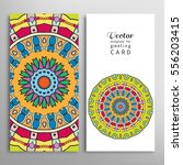 cards or invitations set with... | Shutterstock .eps vector #556203415